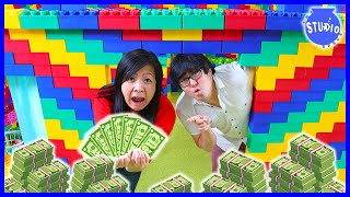 LAST TO LEAVE LEGO BOX FORT WINS $100,000 - CHALLENGE