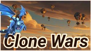Clone Wars | Elektro Dragon + Loon + Battle Blimp |  3 Star War Attack | Lavaloon | TH 12 | COC 2018