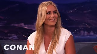 Lindsey Vonn Is Very, Very Competitive  - CONAN on TBS
