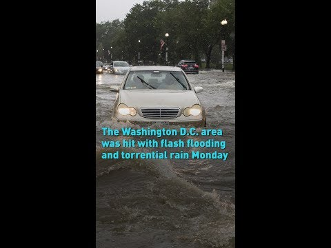 The Washington D.C. area was hit with flash flooding