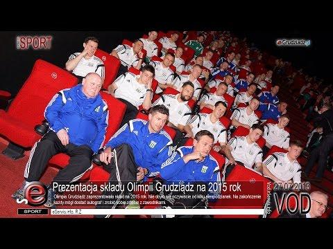 Prezentacja składu Olimpii Grudziądz na 2015 rok