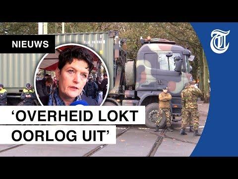 Ontbijt met protestboeren in Den Haag
