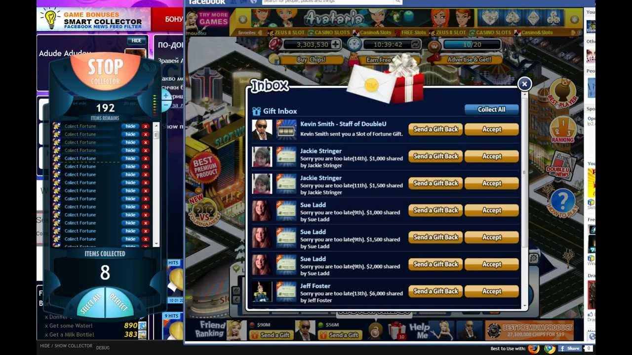doubleu casino social game bonuses collector