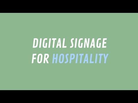 ScreenScape Digital Signage for Hospitality