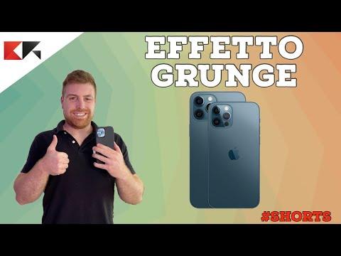 FILTRO EFFETTO GRUNGE alle foto iPhone