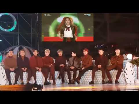 Exo reaction about BLACKPINK (Whistle+Playing with fire+As if it's your last)
