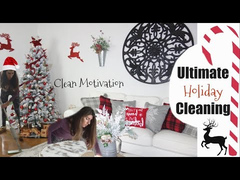 ULTIMATE CLEAN WITH ME | HOLIDAY CLEANING MOTIVATION Vlogmas 2017 | Momma from scratch