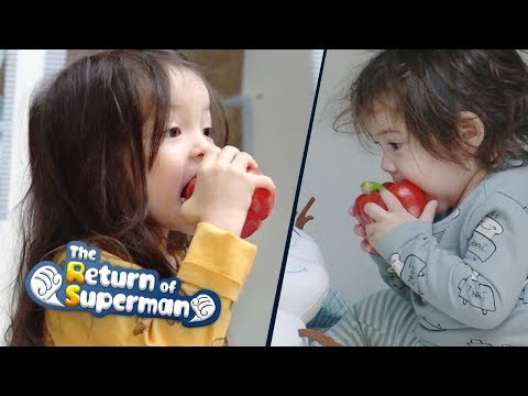 Gun Hoo Picks up a Red Bell Pepper~ What is Happening to His Tongue? [The Return of Superman Ep274]