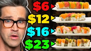 Frozen vs. Fast vs. Fancy Food Taste Test (Sushi)