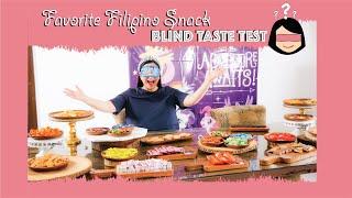 Favorite Filipino Snacks Blind Taste Test | Mariel Padilla Vlog