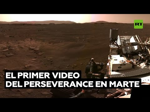 El primer video del róver Perseverance en Marte