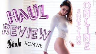 HAUL y REVIEW de ROPA! SHEIN/ROMWE (ONLINE)