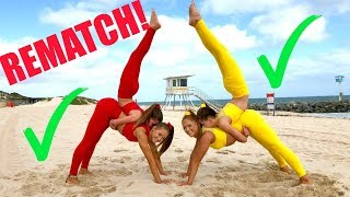 Big sisters VS Little sisters EXTREME YOGA CHALLENGE! REMATCH!