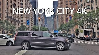 Driving Downtown - NYC's Wealthy Upper East Side 4K