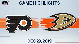 NHL Highlights | Flyers vs. Ducks - Dec. 29, 2019