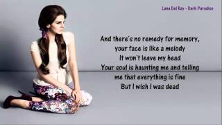 Lana Del Rey - Dark Paradise - Lyrics