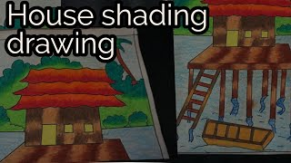 beautiful house shading drawing by my student for kids