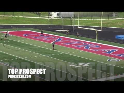 Dulles Hanula, Kickoffs, Prokicker.com Top Prospect Camp 2016