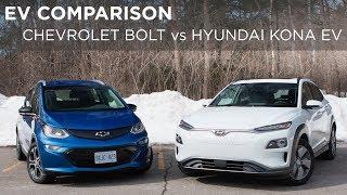 EV Comparison | Chevrolet Bolt vs Hyundai Kona EV | Driving.ca