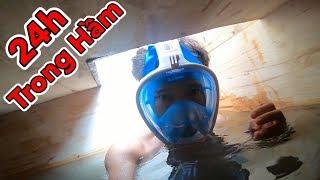Lâm Vlog - Thử Thách 24H Sống Trong Căn Hầm Ngập Nước Dưới Lòng Đất