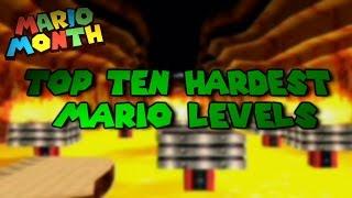 Top Ten Hardest Mario Levels