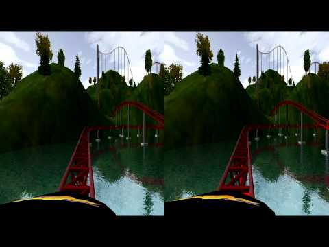 3D Rollercoaster: River Raid (Remastered HD) (3D for PC/3D phones/3D TVs/Crossed Eyes)