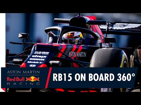 On Board in 360° with Max Verstappen for the RB15's first laps at Silverstone