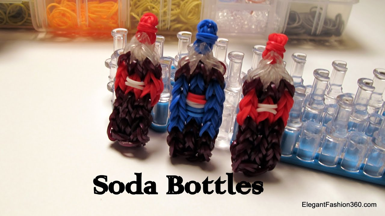 Coca Cola Soda Bottle Charm How To Rainbow Loom Food