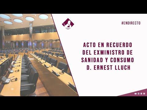 Acto en recuerdo del exministro de Sanidad y Consumo Don Ernest Lluch (30/11/2020)