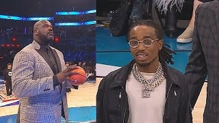 Shaq Cheats vs Migos' Quavo & Kenny With 2 Chainz During Shooting Contest! 2019 NBA All Star Weekend