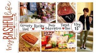 Grocery Haul / Target Run / Handbag Un-boxing / Recipe / Vlog Time