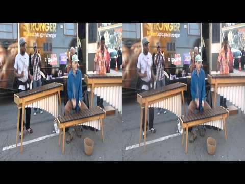 Xylophone band at First Fridays (YT3D:Enable=True) Full-SBS