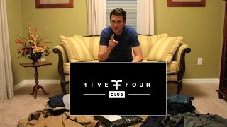 FIVE FOUR CLUB: ONE YEAR OF CLOTHING SHIPMENTS - REVIEW & UNBOXING OF LATEST BOX (#27)