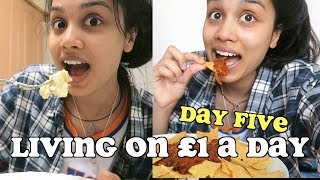 living on £1 a day for a week - DAY FIVE | clickfortaz