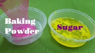 Sugar Slime vs Baking Powder Slime