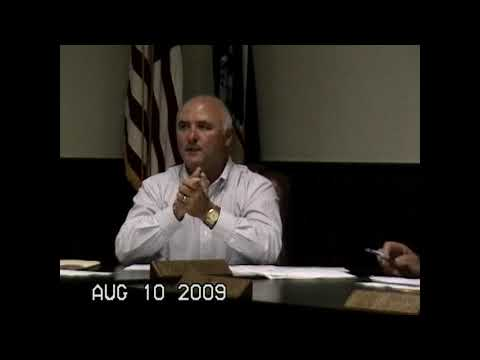 Chazy Town Board Meeting  8-10-09