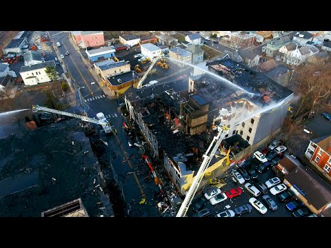 Drone captures destruction from massive fire in Bound Brook