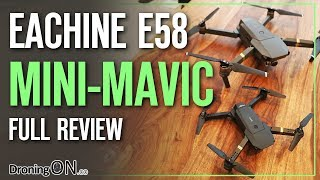 Eachine E58 'Mini DJI Mavic' Unboxing, Comparison & Flight Test