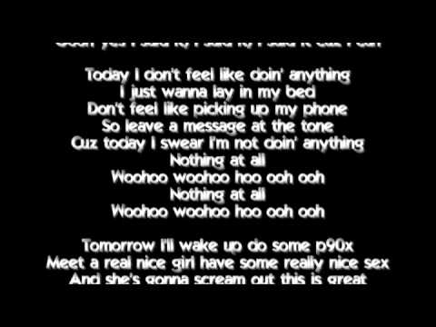 Bruno Mars - The Lazy Song with Lyrics
