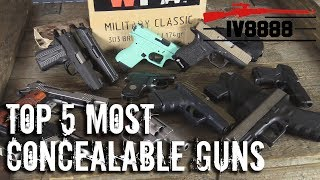 Top 5 Most Concealable Handguns