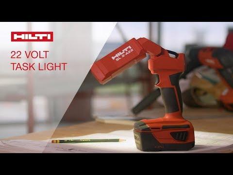 OVERVIEW of Hilti's SL 2-A22 cordless 22V LED task light