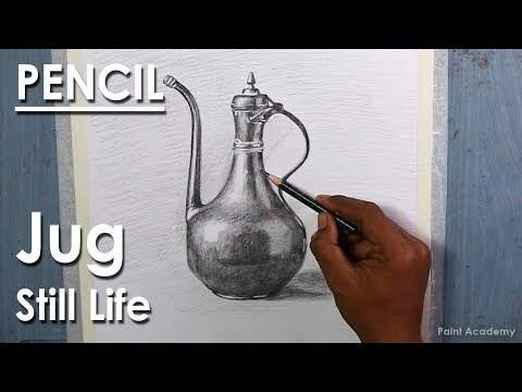 Realistic Still Life in Pencil : An Old Jug