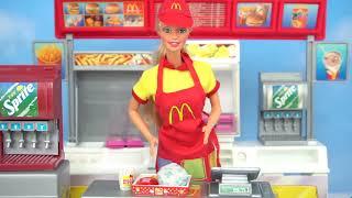 Barbie Boneca Mc Donalds Fast Food Com Olá Kitty Rement Casa De Bonecas Em Miniatura