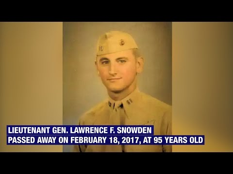 Lt. Gen. Lawrence F. Snowden Passes Away