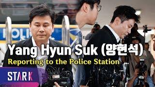 Yang Hyun Suk, Reporting to the police station (드디어 모습 드러낸 양현석, 성접대 의혹에는 묵묵부답)