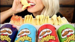 ASMR Eating Pringles Flavor Varieties *No Talking