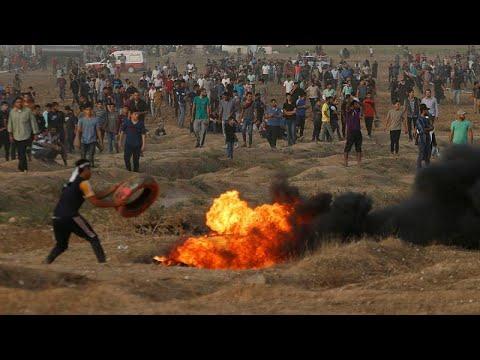 130 Palestiniens blessés près de la bande de Gaza