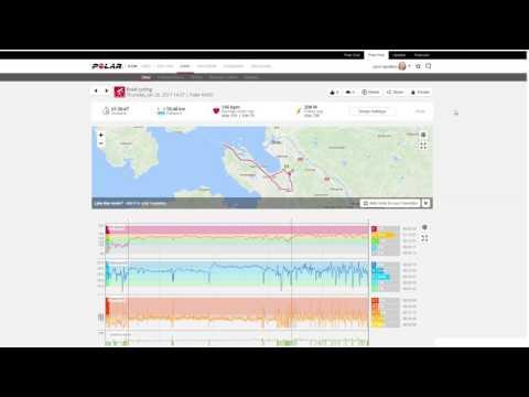 Polar Flow web | Training analysis