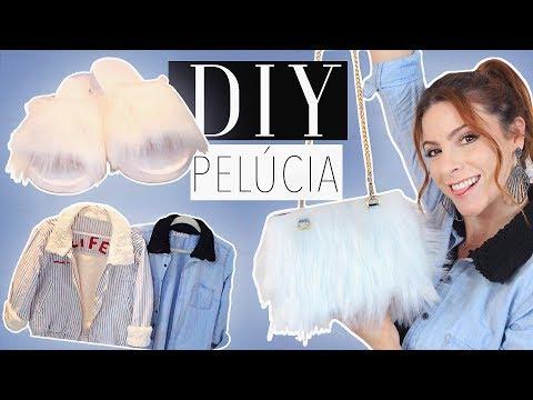 DIY :: Customize tudo com Pelúcia!! Jaquetas, Bolsa, Chinelo Slipper! – Tutorial de Inverno