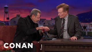 Jeff Goldblum Thinks Palm Reading Is Nonsense  - CONAN on TBS